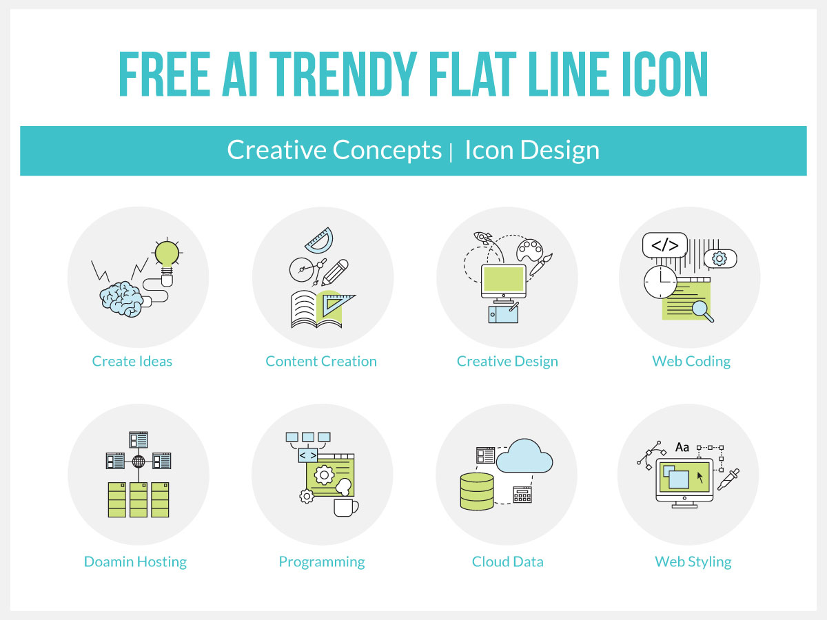 Free-Vector-Trendy-Flat-Line-Icon