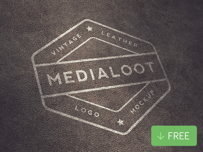 Free-Vintage-Leather-Logo-Mockup