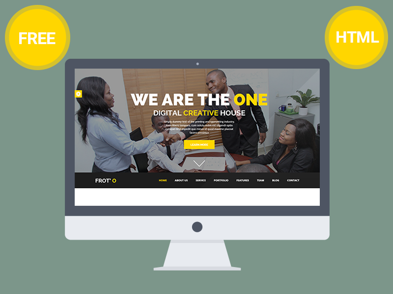 Froto-Corporate-free-HTML-template-design