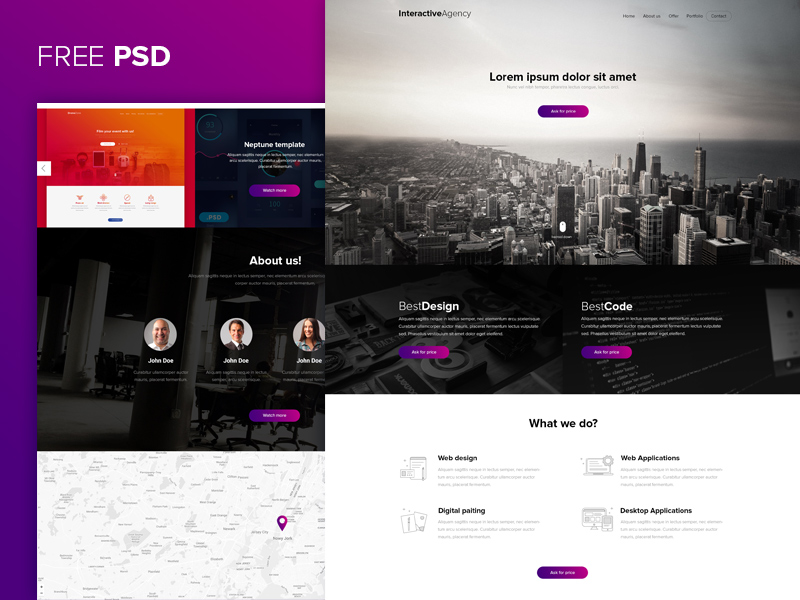 Interactive-agency-PSD-template