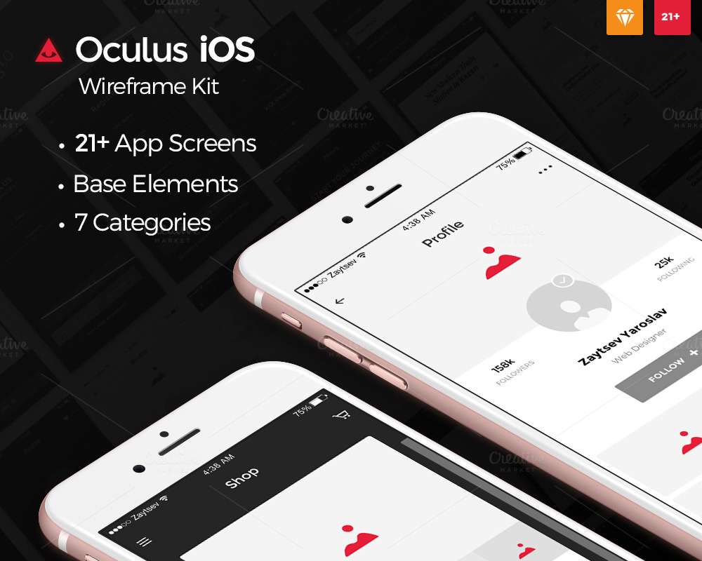 Oculus-iOS-Wireframe-UI-Kit
