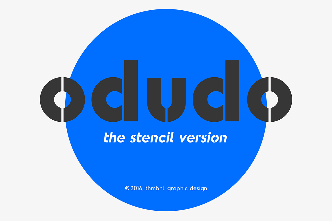 Odudo-Stencil-Typeface