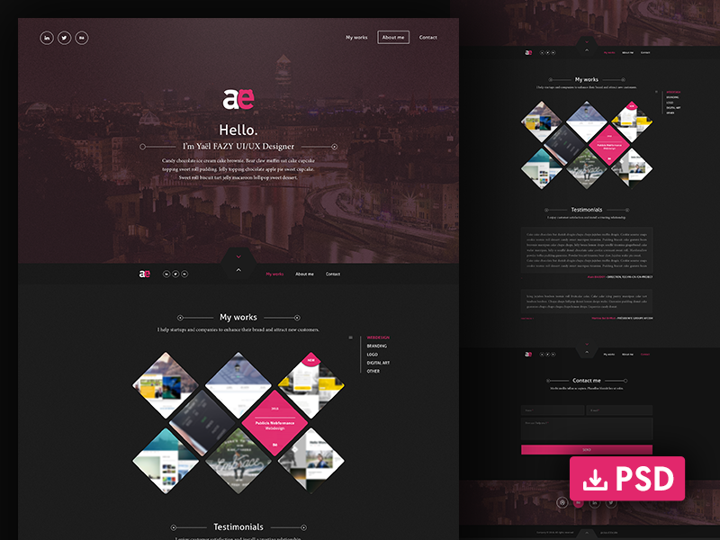 One-page-psd-website-template