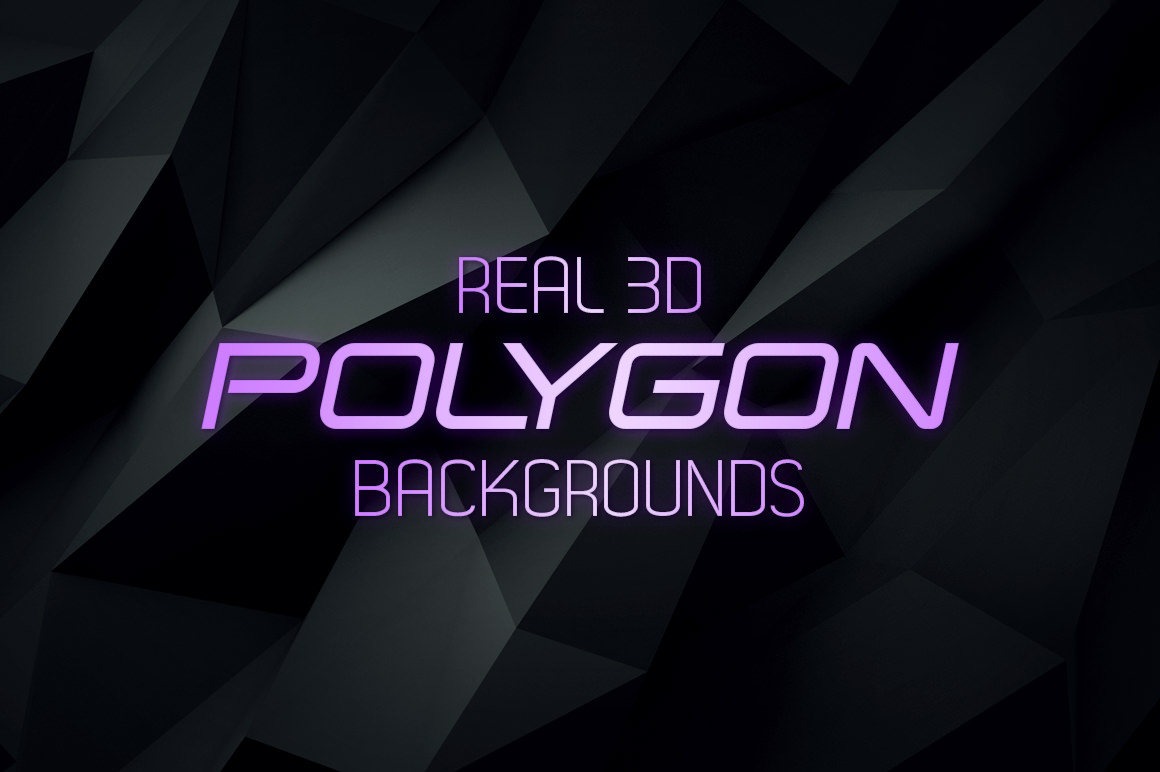 Real-3D-Polygon-Backgrounds