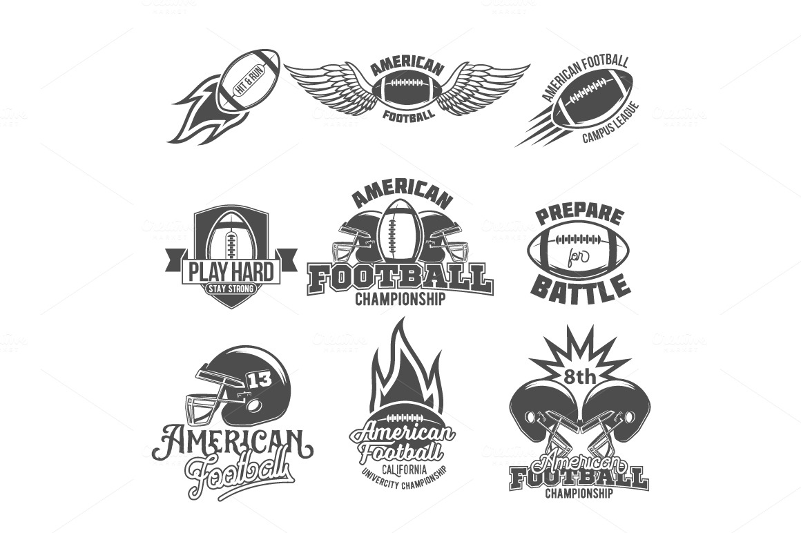 Set-of-american-football-labels