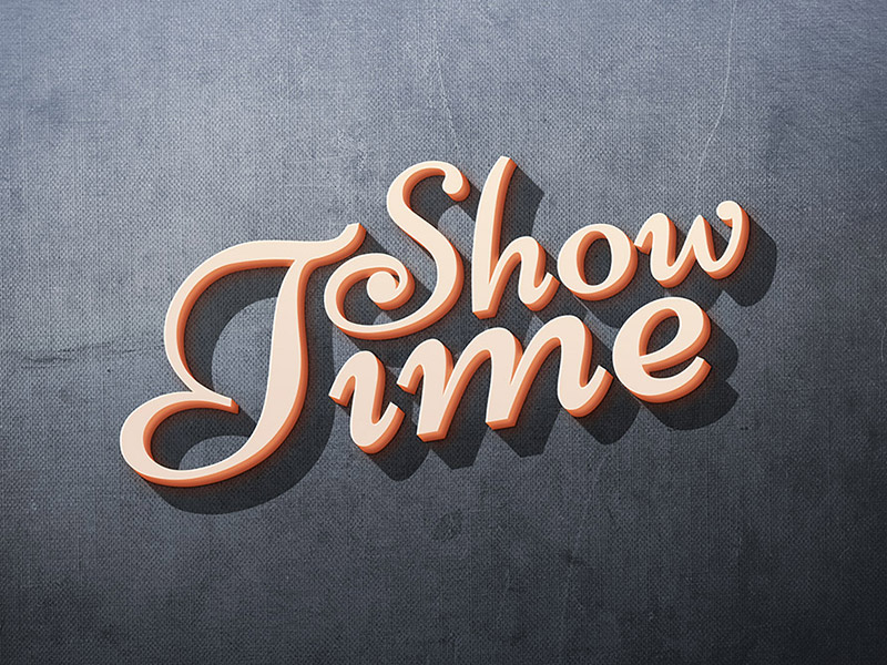 Showtime-3D-Text-Effect