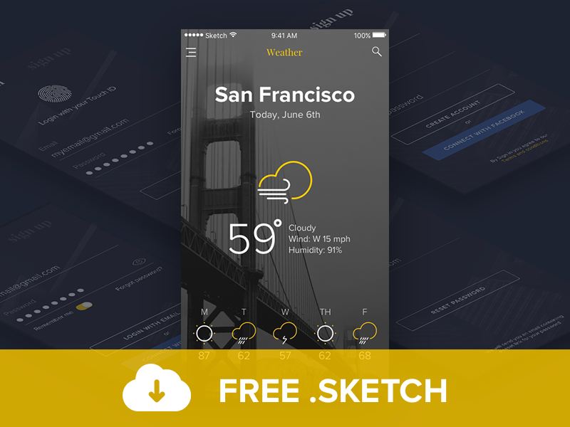 Tapnews-Free-sketch-mobile-ui-kit