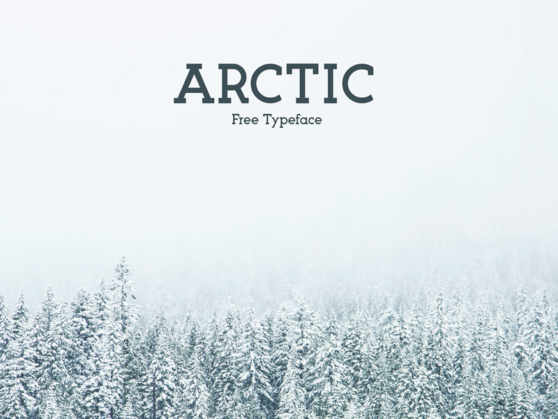 The-free-Arctic-typeface