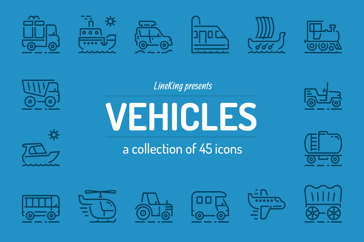 Vehicles-Line-Icons