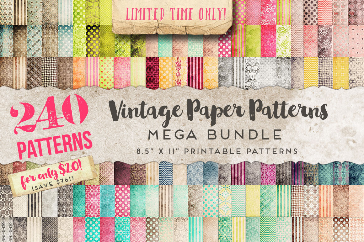 Vintage-Paper-Patterns-MEGA-Bundle