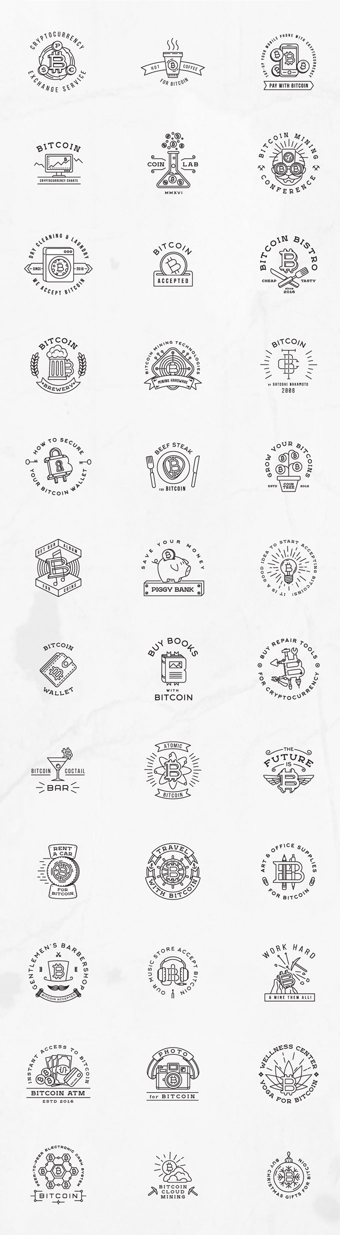 bitcoin-vintage-logo-badges