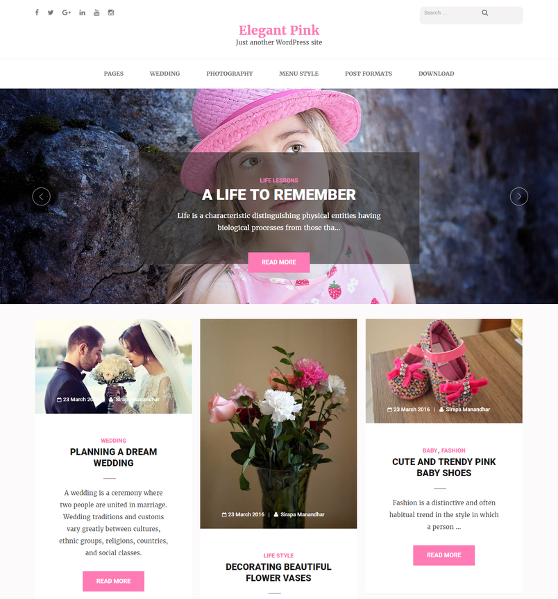 elegant-pink-masonry-blog-wordpress-theme-1