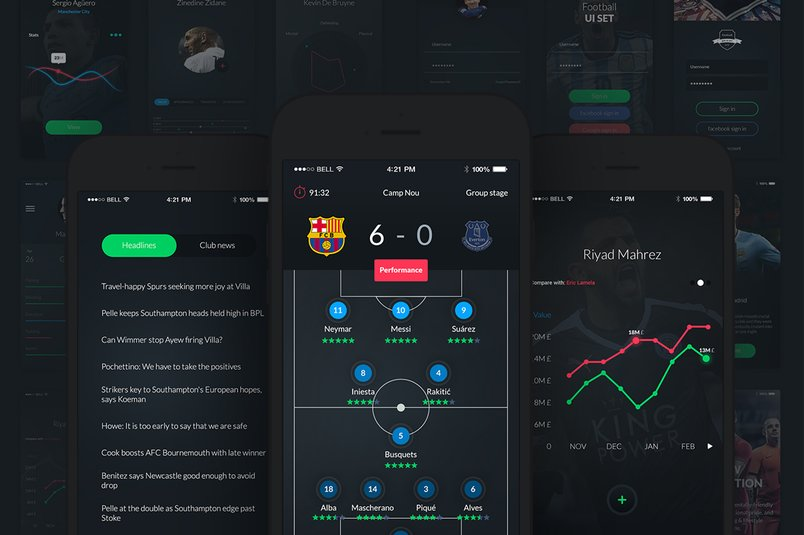 football-app-ui-set-2
