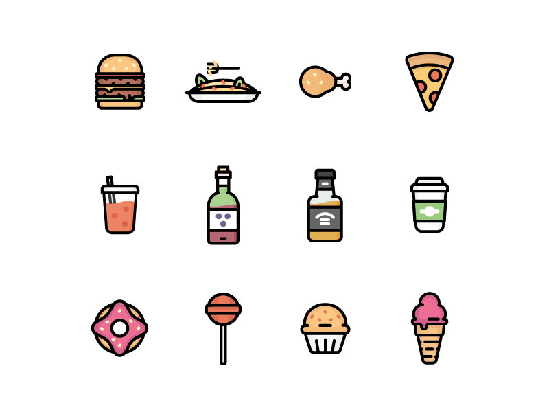 free-colorful-food-icons