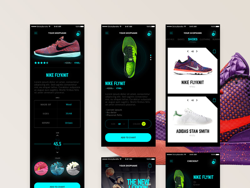 glow-mobile-ecommerce-ui-kit-freebie