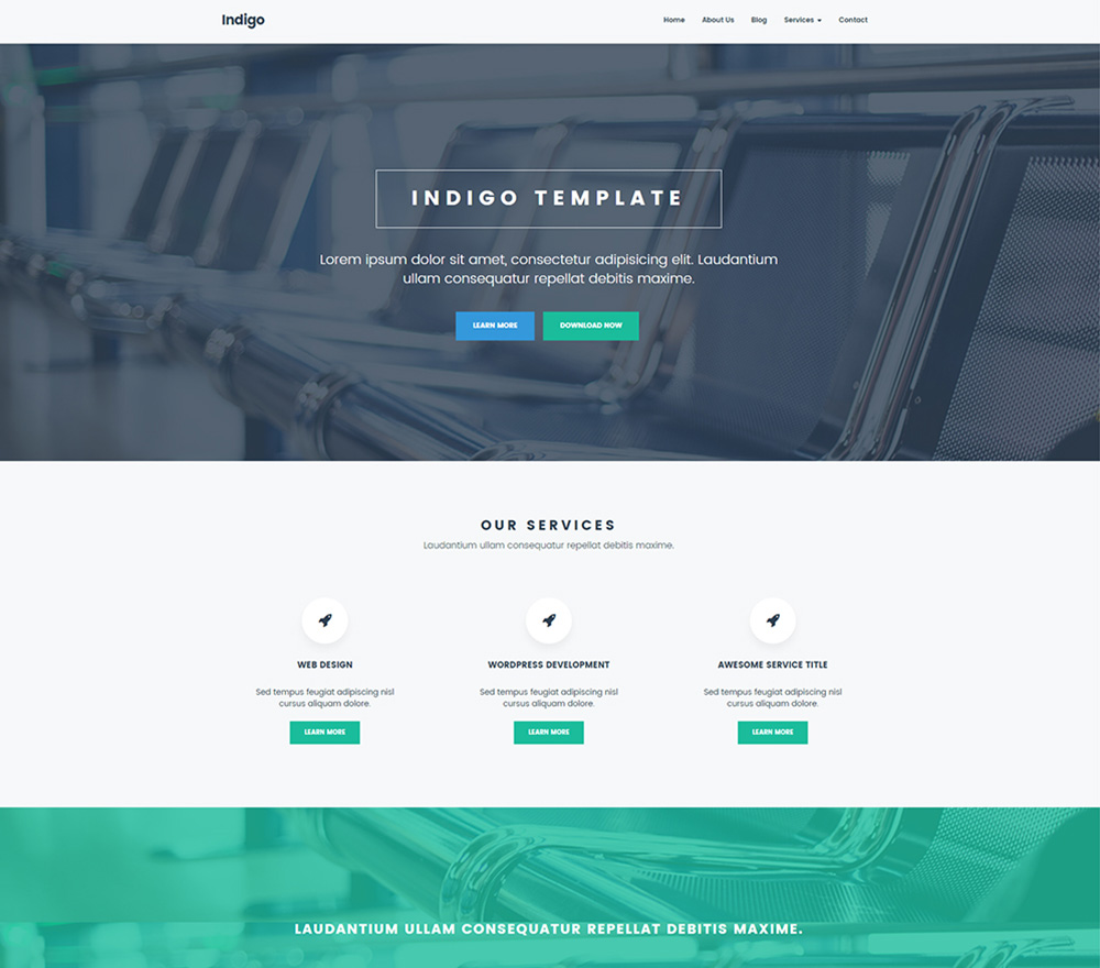 indigo-website-template