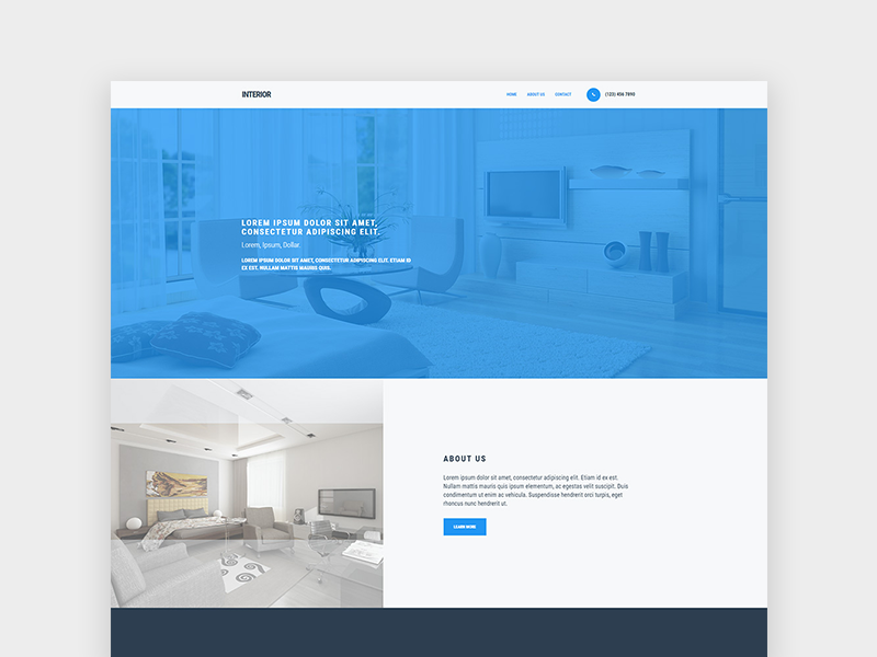 interior-website-template