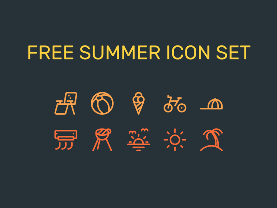 summer-icon-set