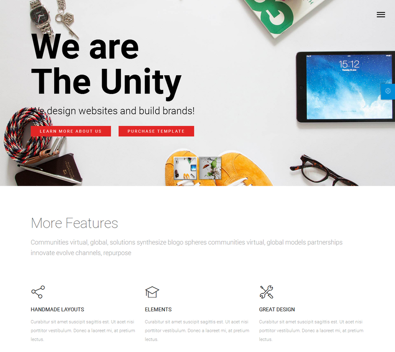 unity-html-responsive-multipurpose-template-1