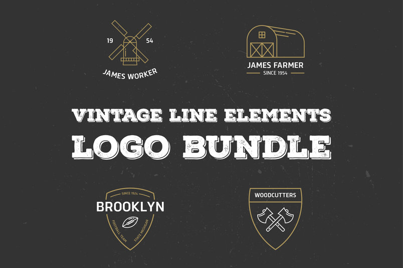vintage-line-elements-logo-bundle-2