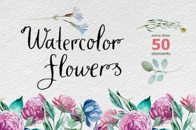 watercolor-different-flowers-2