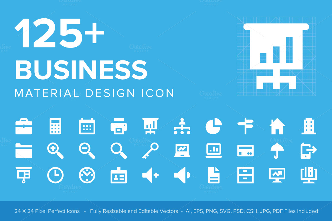 125-Business-Material-Design-Icons