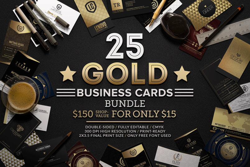 25-gold-business-cards-bundle-2