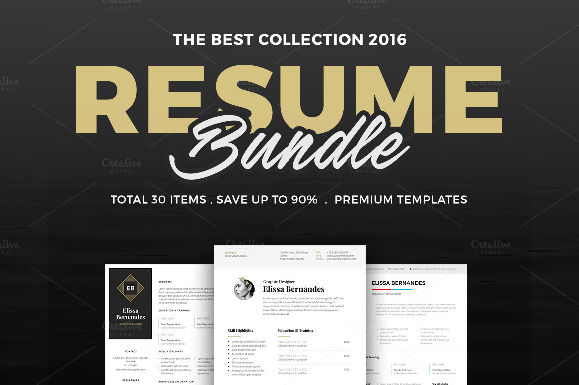 30-Best-Selling-Resume-MEGA-Bundle