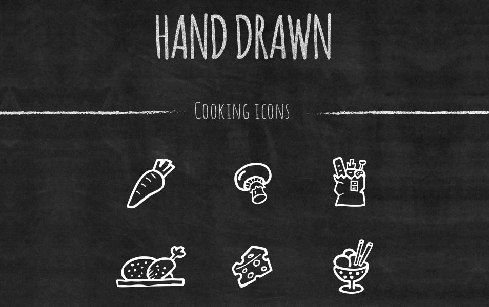 55-Handcrafted-Vector-Cooking-Icons