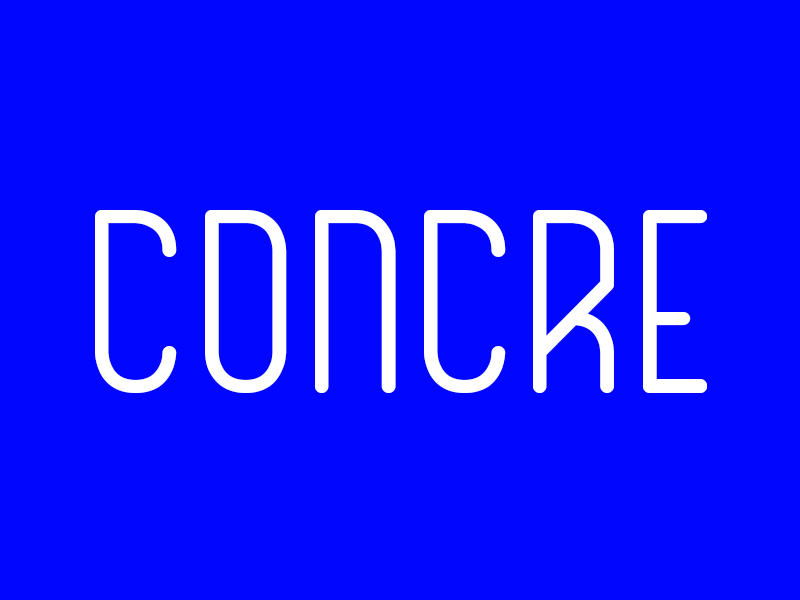 Concre-Free-Typeface