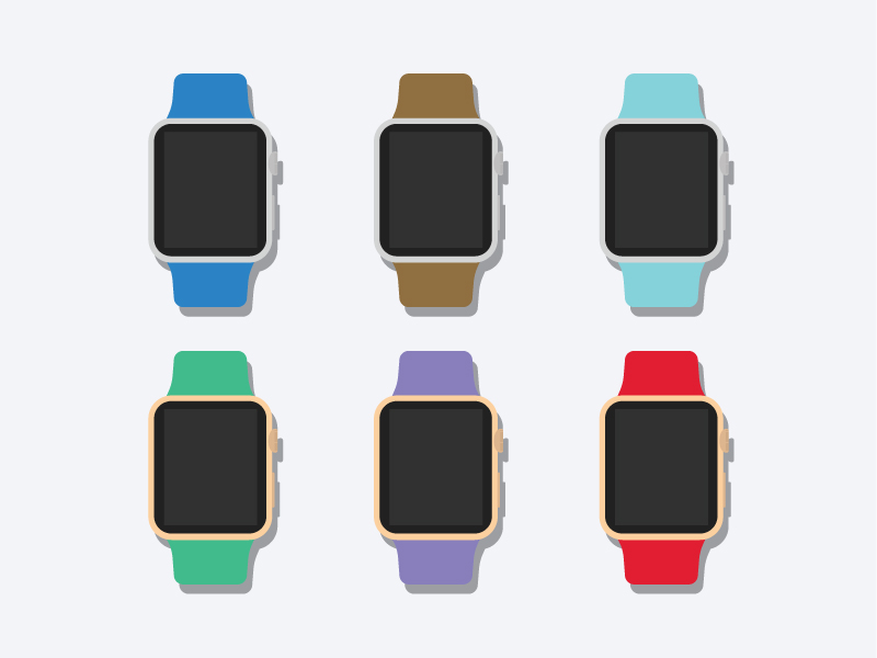 Flat-2d-Apple-Watch-Mockup