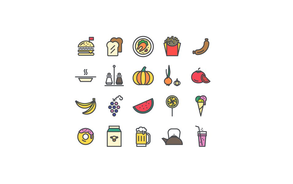 Food-Beverages-Vector-Icons