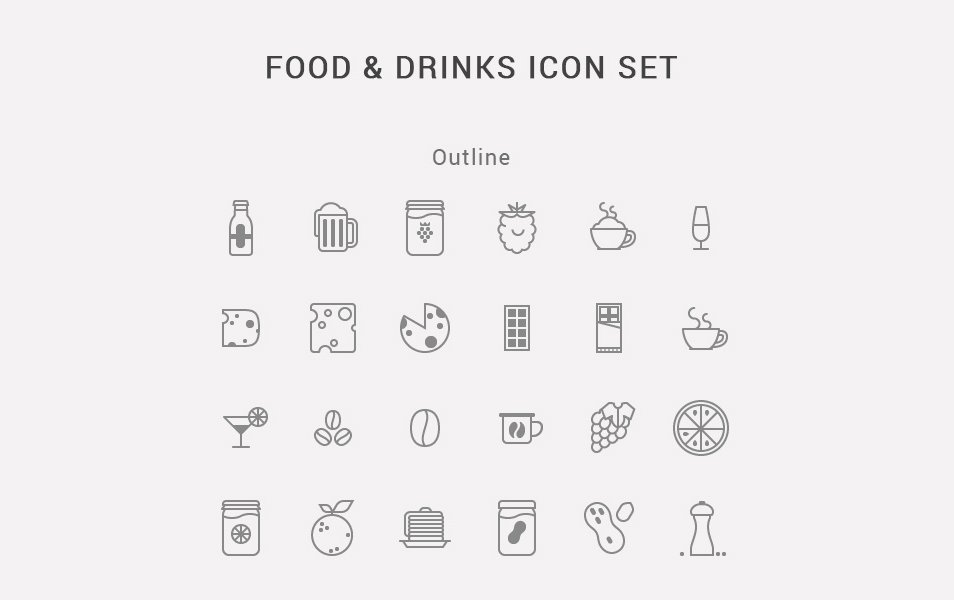 Food-Drinks-Icon-Set