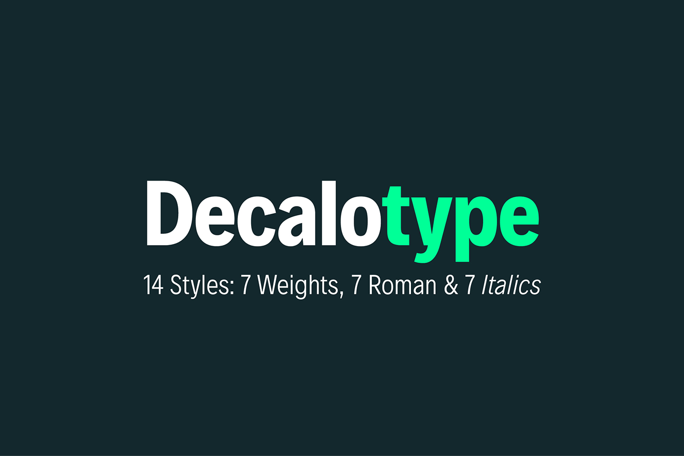 Free-Decalotype-Typeface