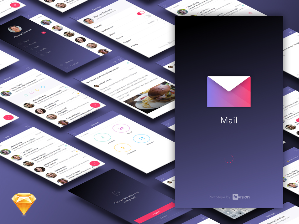 Free-Mail-App-Ui-Kit