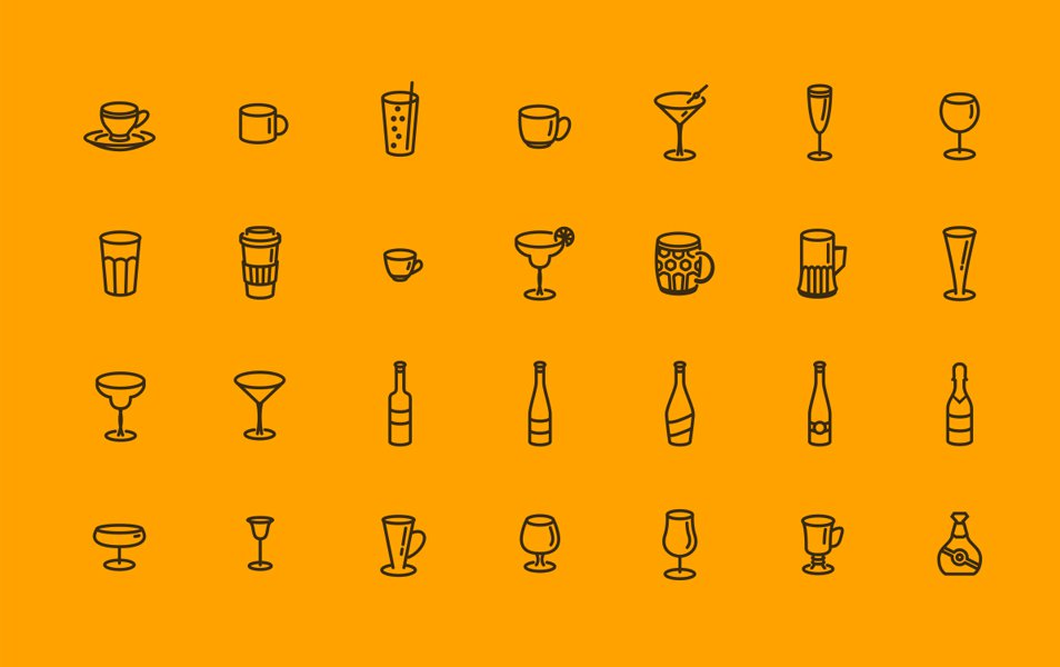 Glasses-Bottles-Cups-Icons