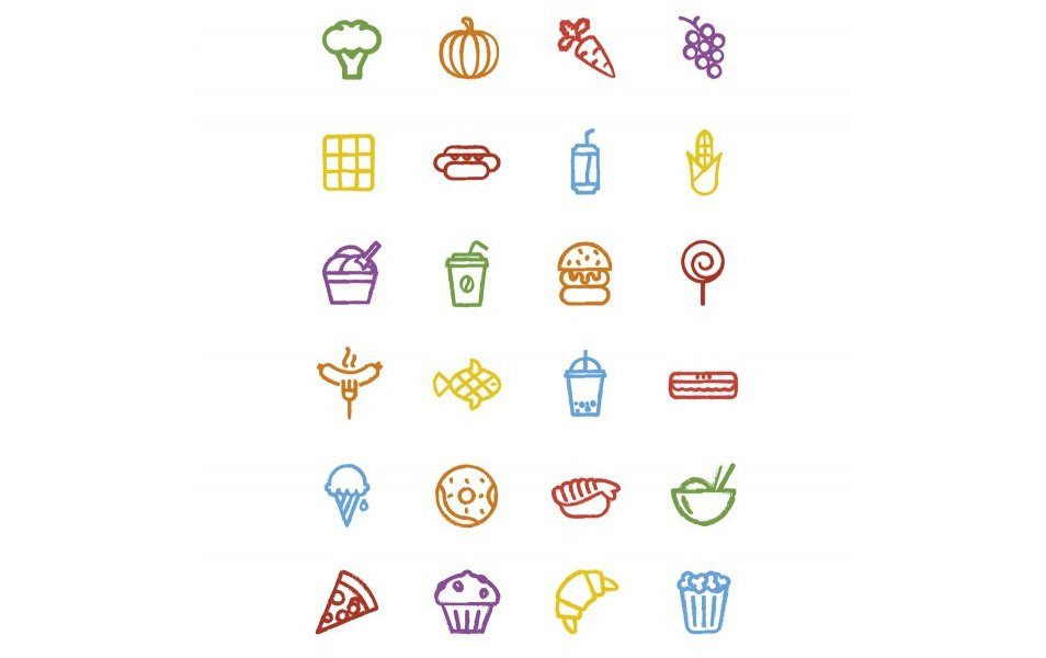 Hand-Drawn-Vector-Food-Icons
