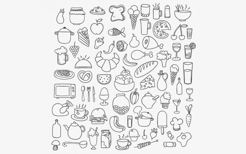 Icons-of-sketchy-food