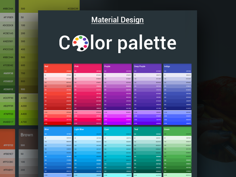 Material-Design-Color-Palette