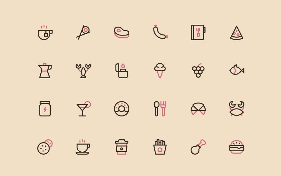 Nucleo-Food-Icons-Free