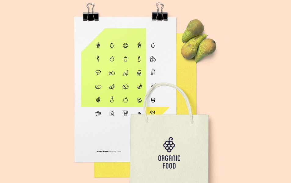 Organic-Food-Icon-Set