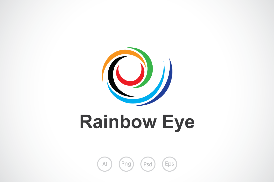Rainbow-Eye-Logo-Template