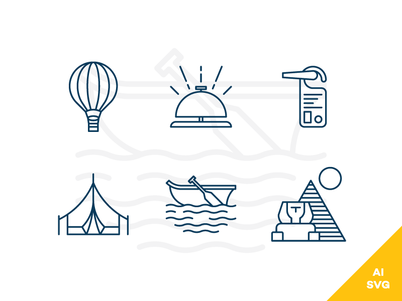 Travel-and-Hotels-Freebie-Vector-Icons