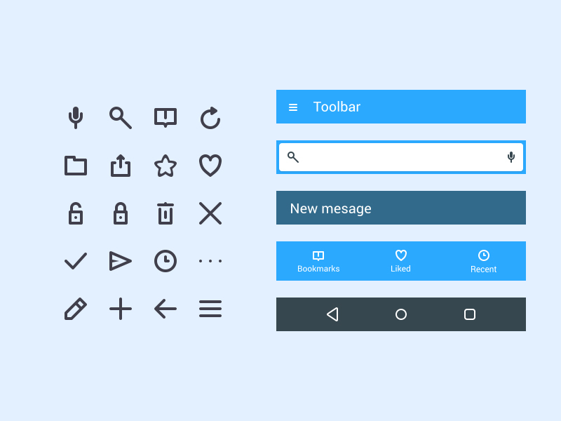 app-icons-and-bars-ui-kit