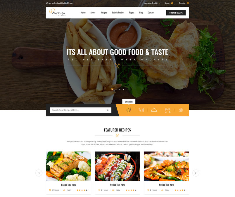 chef-recipe-food-and-recipe-psd-template-2