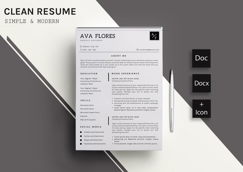 clear-resumecv-template-11-2