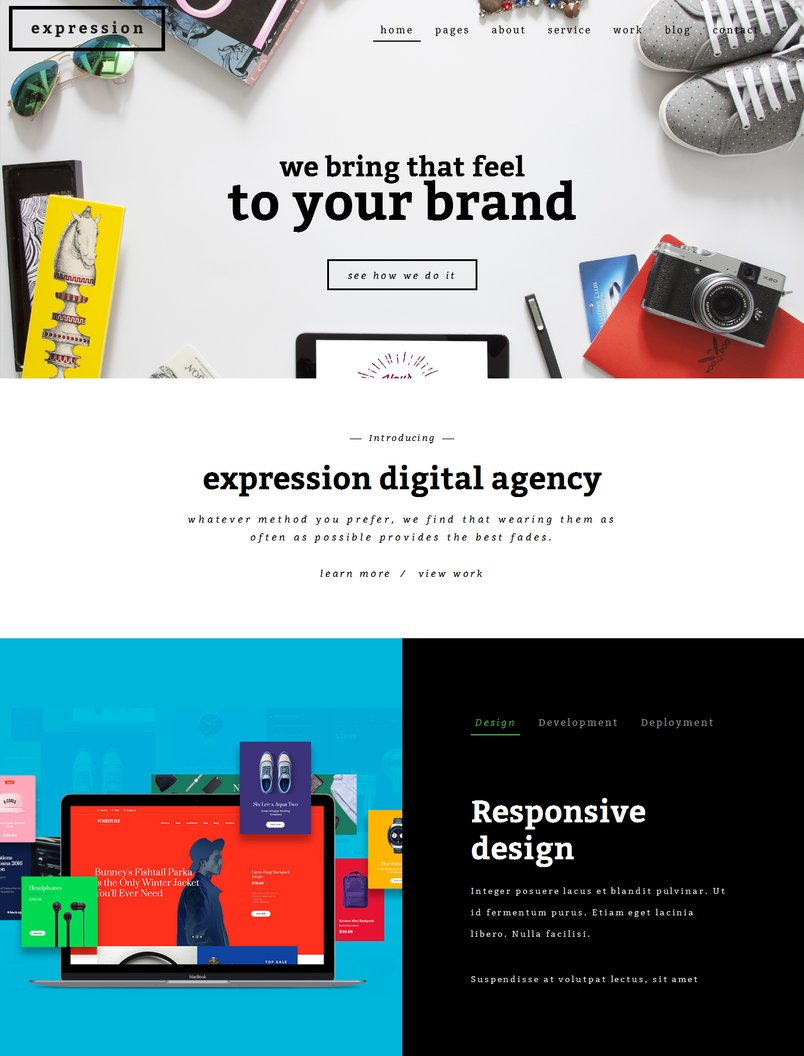 expression-creative-html-template-1