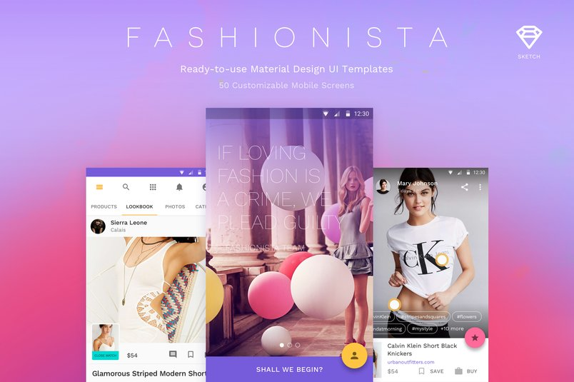 fashionista-material-design-ui-kit-2