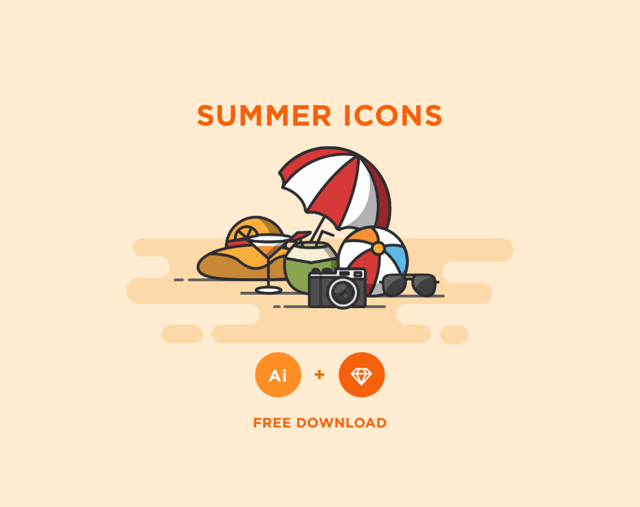 free-colorful-summer-icons