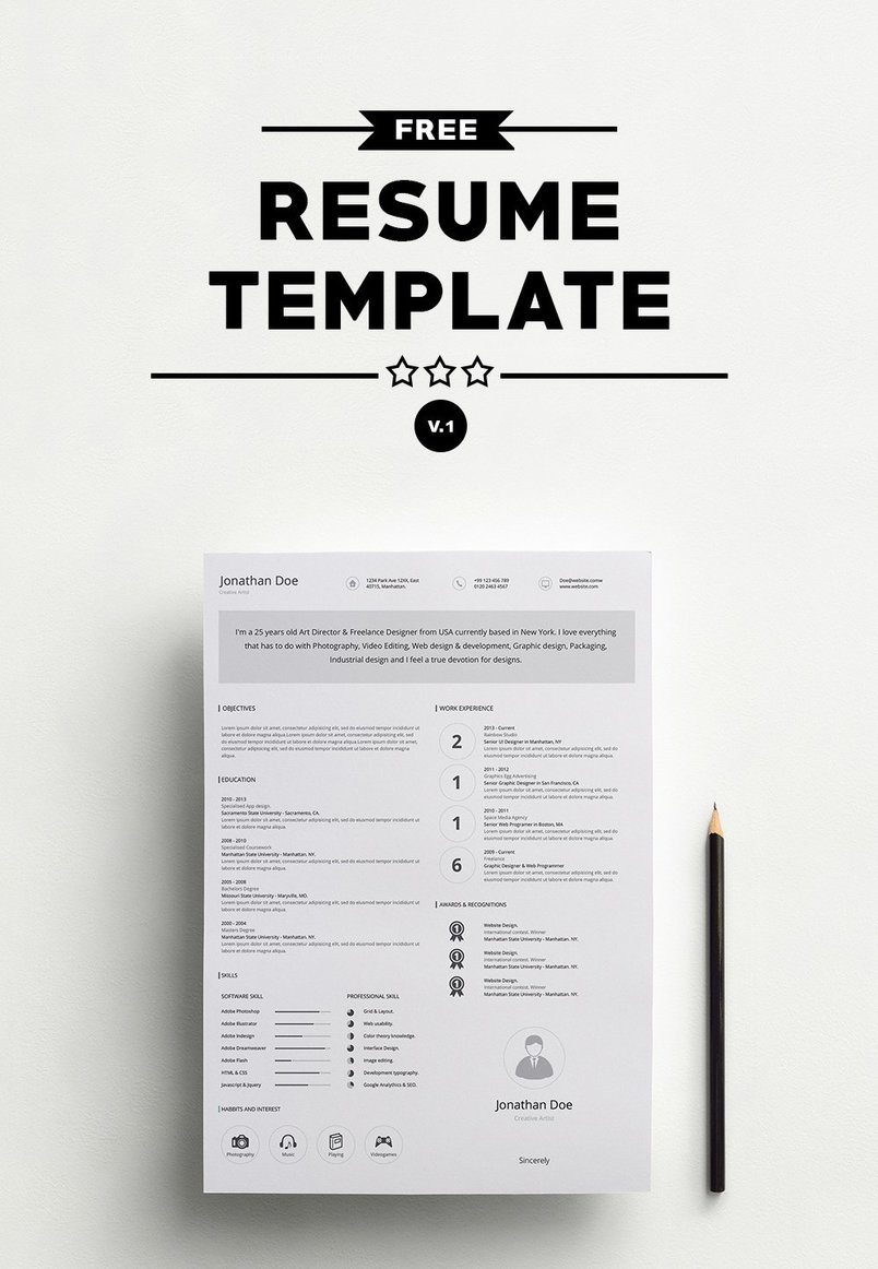 Best Clean Cv  Resume Templates  DesignazureCom